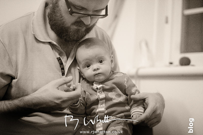 Dad holding Scout - Baby Portraits - Professional Portraits Dorset
