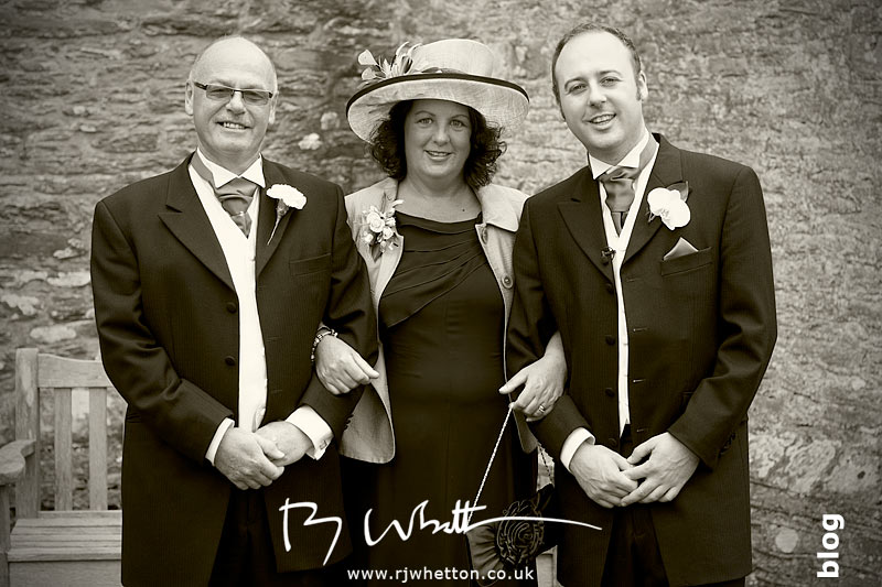 North Devon Wedding with Matt Fryer - Ash with his parents