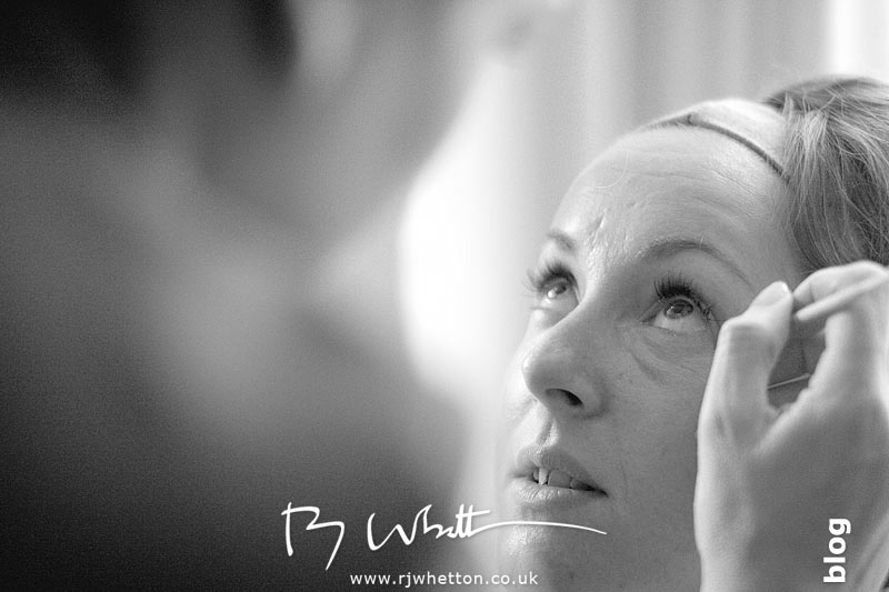 Rebecca has her make up done - Professional Wedding Photography Dorset