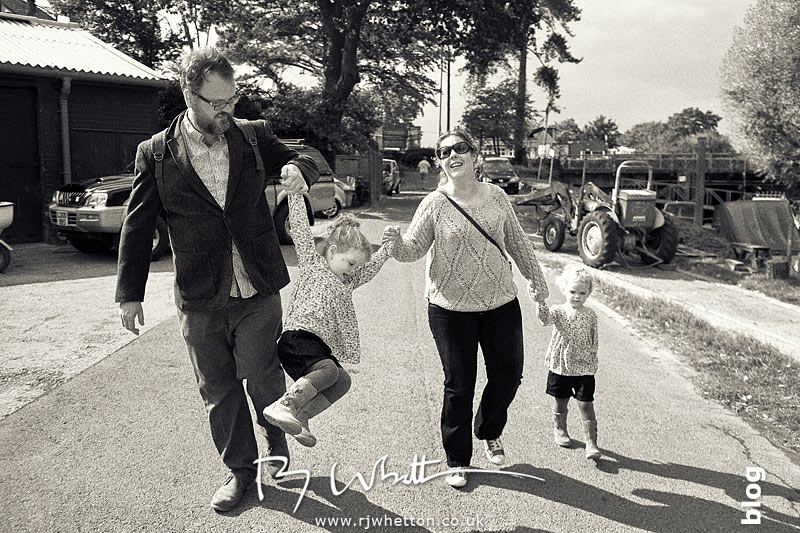 Mum and Dad with the twins - Portrait Photography Dorset