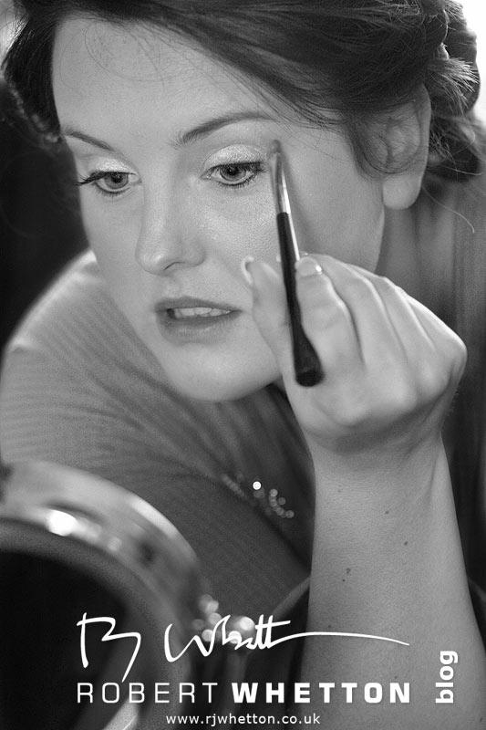 Jo doing make-up - Dorset Wedding Photographer Robert Whetton