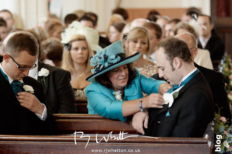 North Devon Wedding with Matt Fryer - Ash has his cravat sorted by mum
