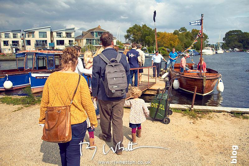 Family boarding the boat - Portrait Photography Dorset