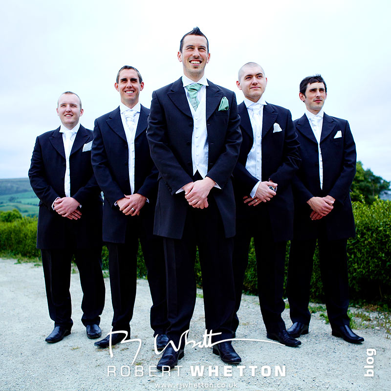 Ben and the lads posing - Dorset Wedding Photographer Robert Whetton