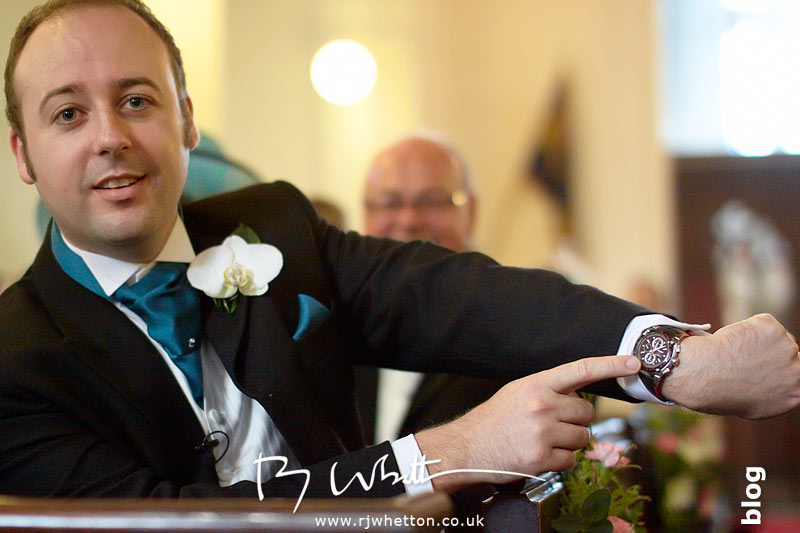 North Devon Wedding with Matt Fryer - Ash making a joke about Lynsey not being on time