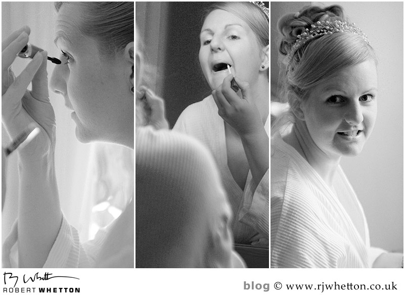 Leah preparing - Dorset Wedding Photographer Robert Whetton