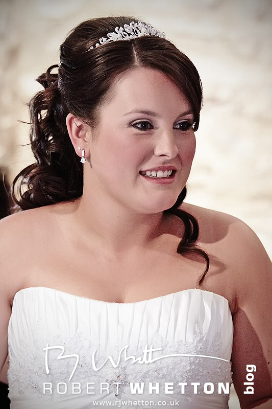Jo in her dress looking beautiful - Dorset Wedding Photographer Robert Whetton