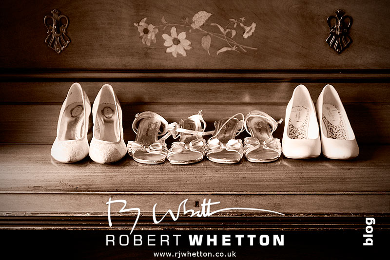 Wedding shoes - Dorset Wedding Photographer Robert Whetton