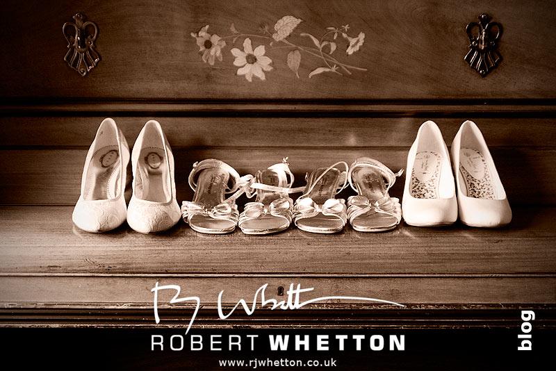 Wedding shoes - Dorset Wedding Photographer Robert Whetton
