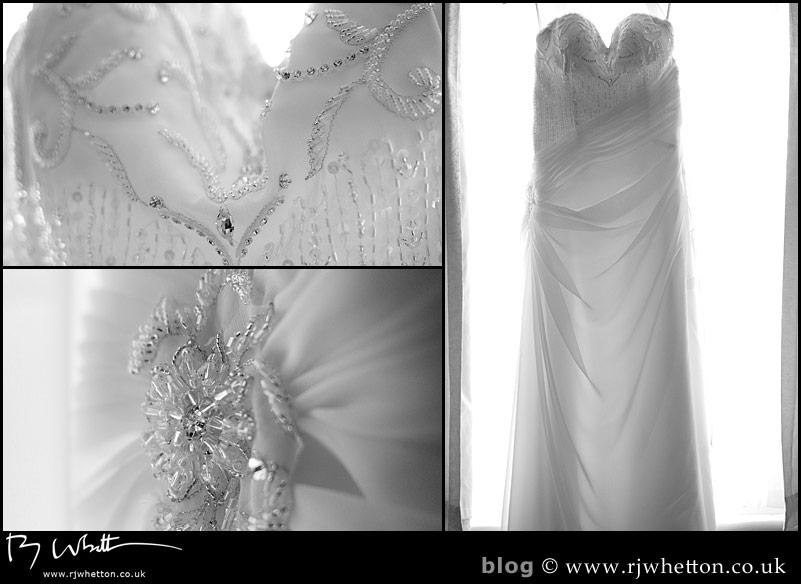 Rebecca's gorgeous wedding dress - Professional Wedding Photography Dorset