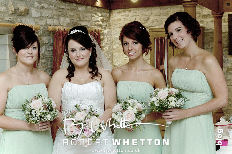 Jo and her bridesmaids - Dorset Wedding Photographer Robert Whetton