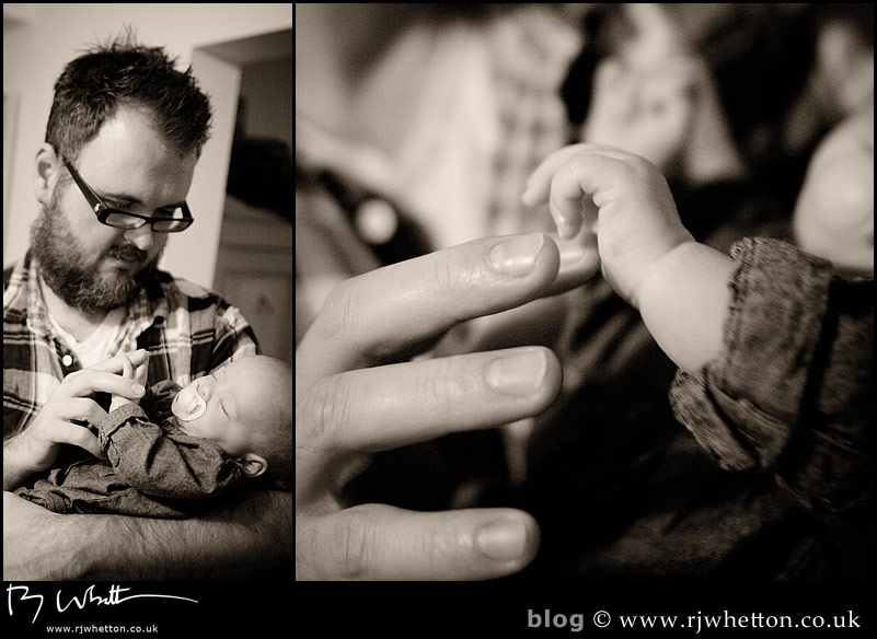 Dom gets some sleepy cuddles with Scout - Baby Portraits - Professional Portraits Dorset