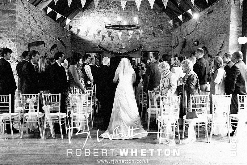 Walking down the isle - Dorset Wedding Photographer Robert Whetton