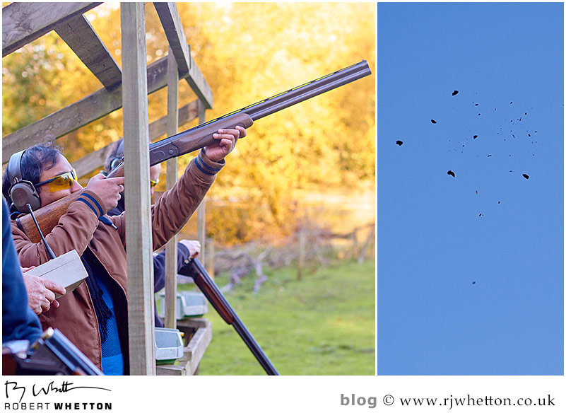 Challenge Leisure -  Rocktime staff member shoots a clay. Photography by Robert Whetton Dorset Events Photographer