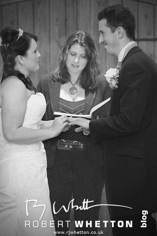 Jo and Ben exchange rings - Dorset Wedding Photographer Robert Whetton