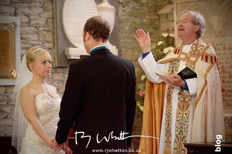 North Devon Wedding with Matt Fryer - despite a noisy videographer Lynsey and Ash receive the blessing