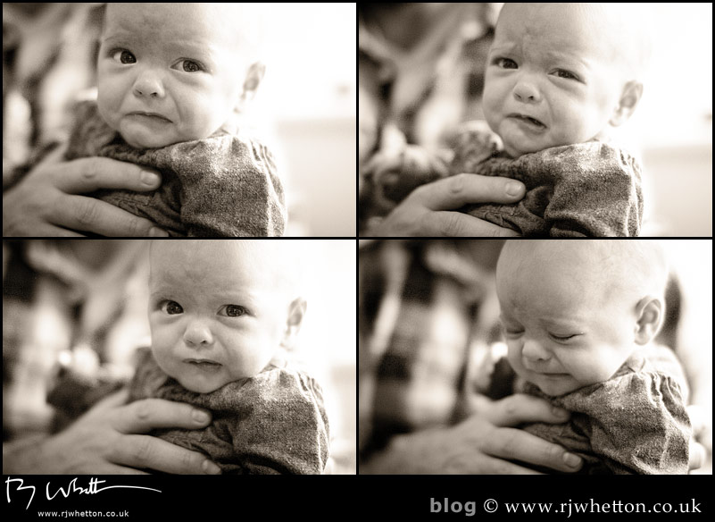 Scout is not a happy bunny - Baby Portraits - Professional Portraits Dorset