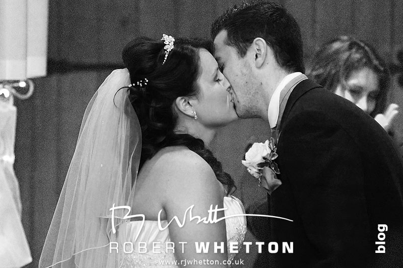 First kiss as Mr and Mrs - Dorset Wedding Photographer Robert Whetton