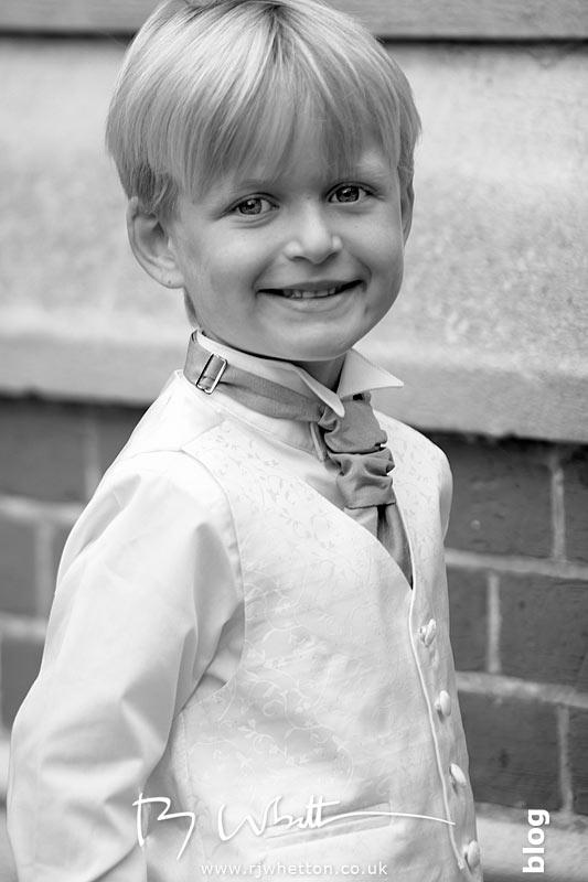 Handsome pageboy waiting - Professional Wedding Photography Dorset