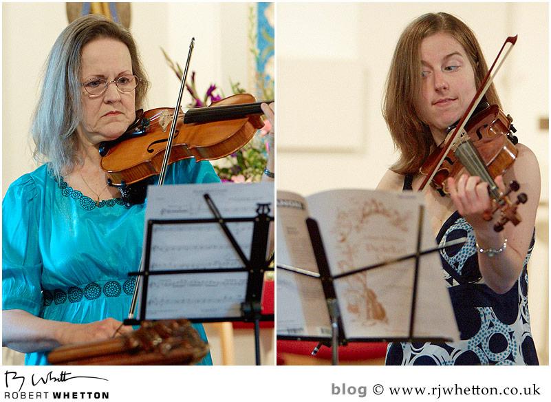 Violinists - Dorset Wedding Photographer Robert Whetton