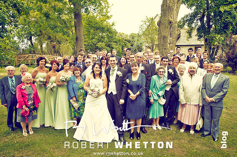 Large group photograph - Dorset Wedding Photographer Robert Whetton
