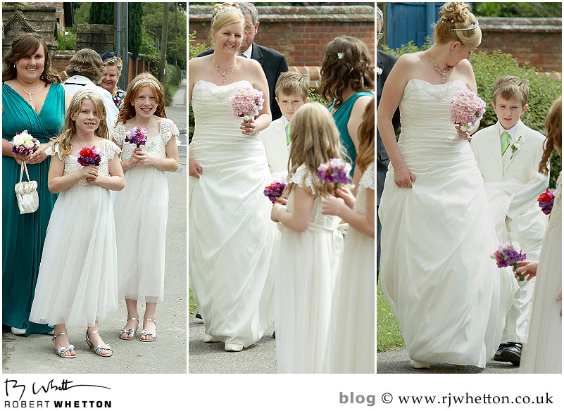 Bride arriving - Dorset Wedding Photographer Robert Whetton