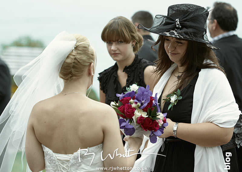 North Devon Wedding with Matt Fryer - Lynsey talking to friends