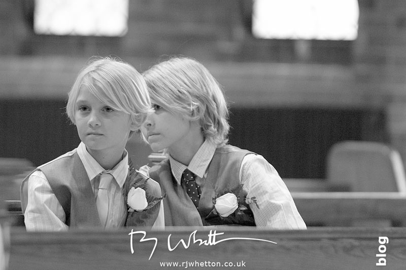 Twins waiting patiently - Professional Wedding Photography Dorset