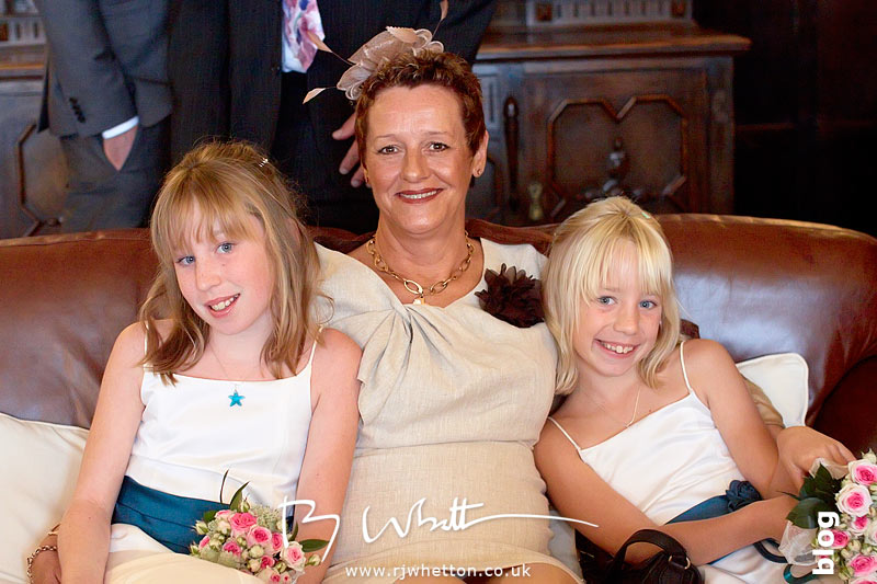 North Devon Wedding with Matt Fryer - Flower girls with Aunty