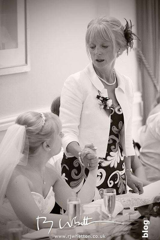 North Devon Wedding with Matt Fryer - Lynsey's mum giving the father (mother) of the bride speech