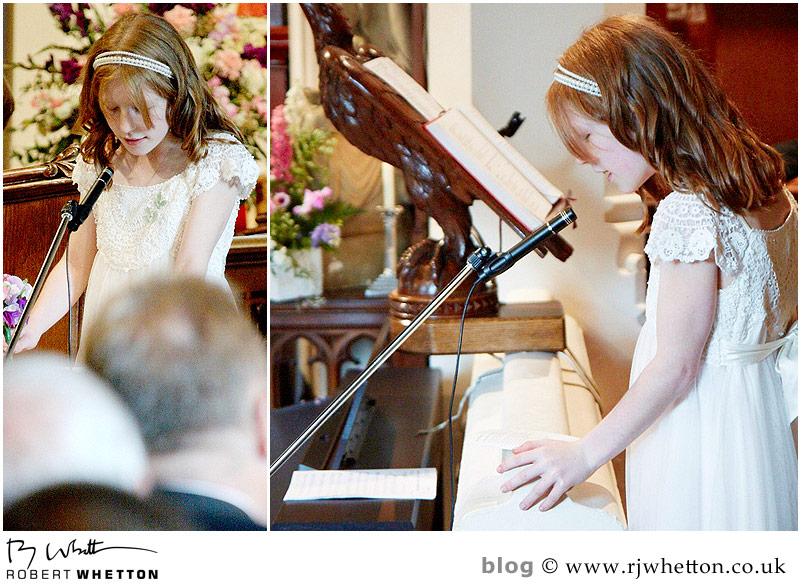 First reading - Dorset Wedding Photographer Robert Whetton