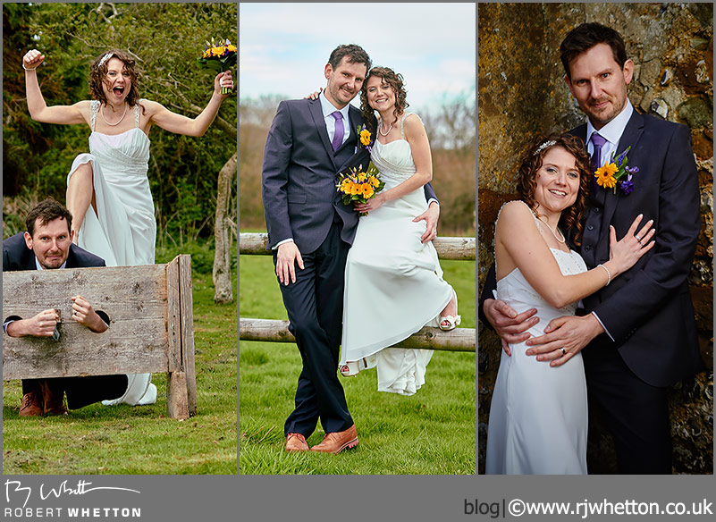 Becky and Kev Wedding photoshoot at Knowlton Church Dorset