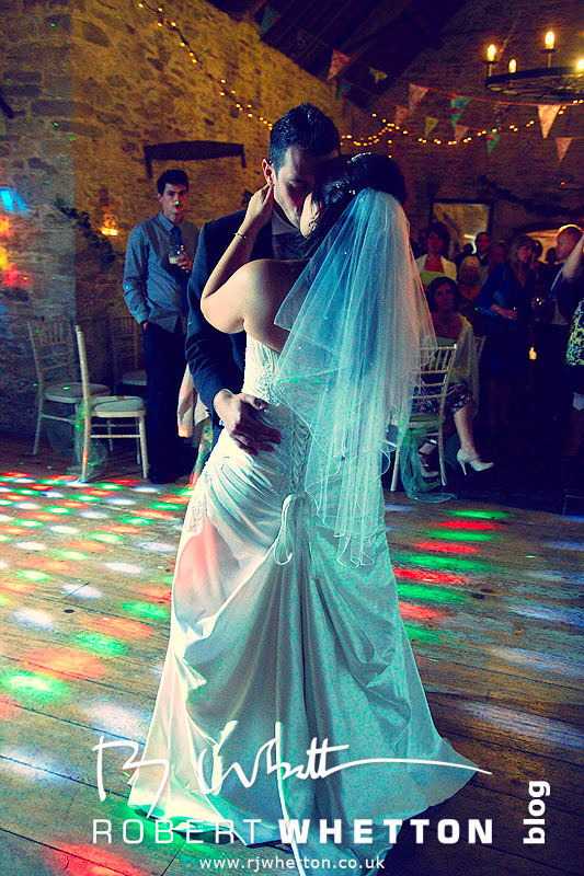 First dance kiss - Dorset Wedding Photographer Robert Whetton
