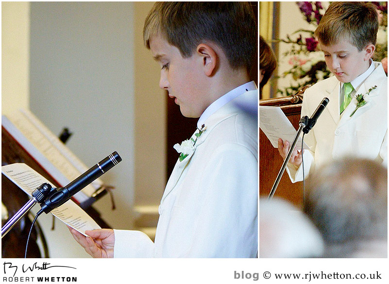 Second reading - Dorset Wedding Photographer Robert Whetton