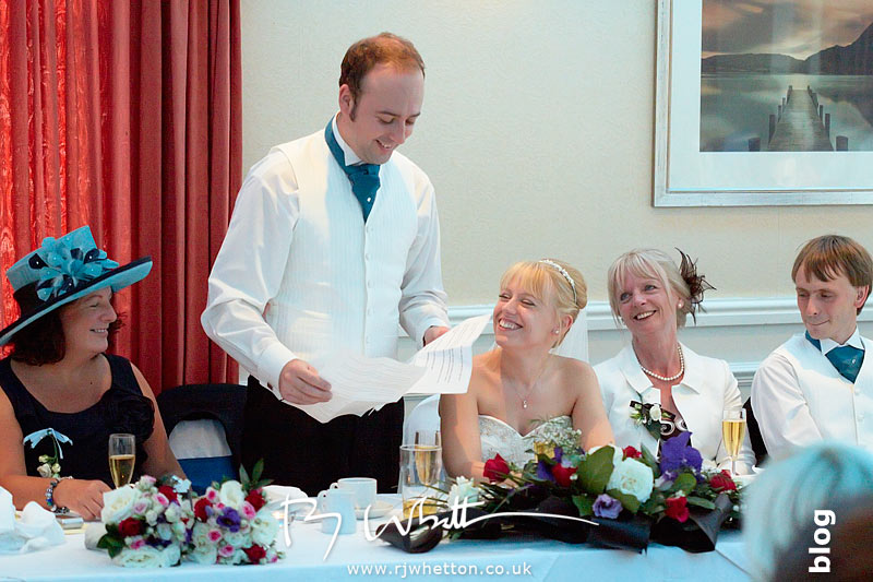 North Devon Wedding with Matt Fryer - Ash gives his speech