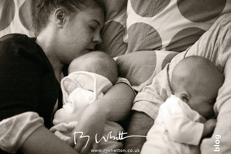 Mum catches 40 winks - Baby Portraits - Professional Portraits Dorset