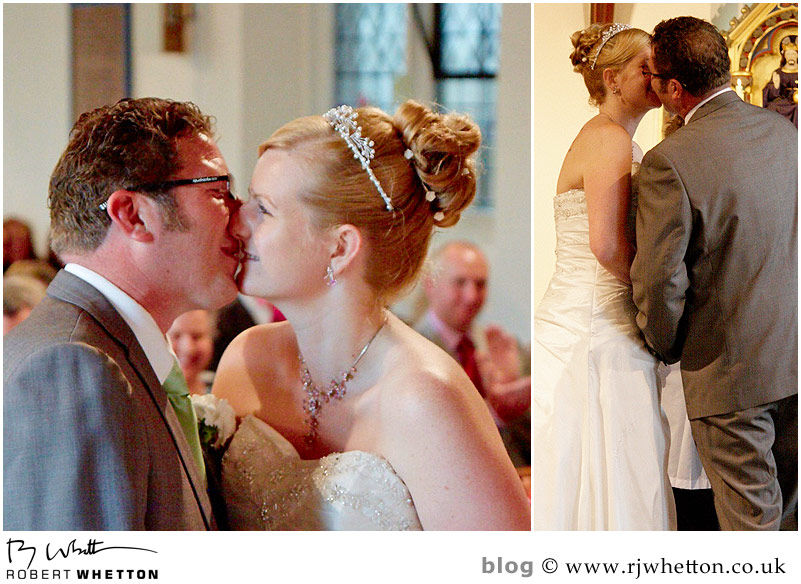 First kiss - Dorset Wedding Photographer Robert Whetton