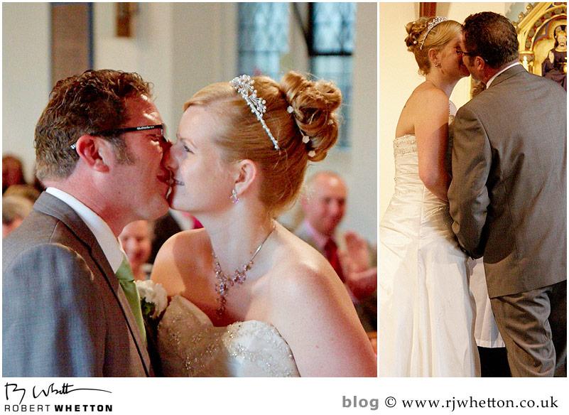 First kiss - Dorset Wedding Photographer Robert Whetton