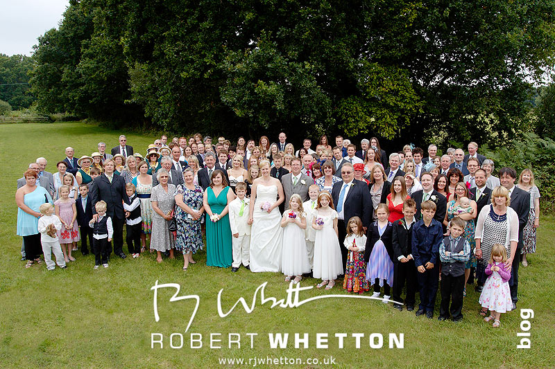 Group shot - Dorset Wedding Photographer Robert Whetton