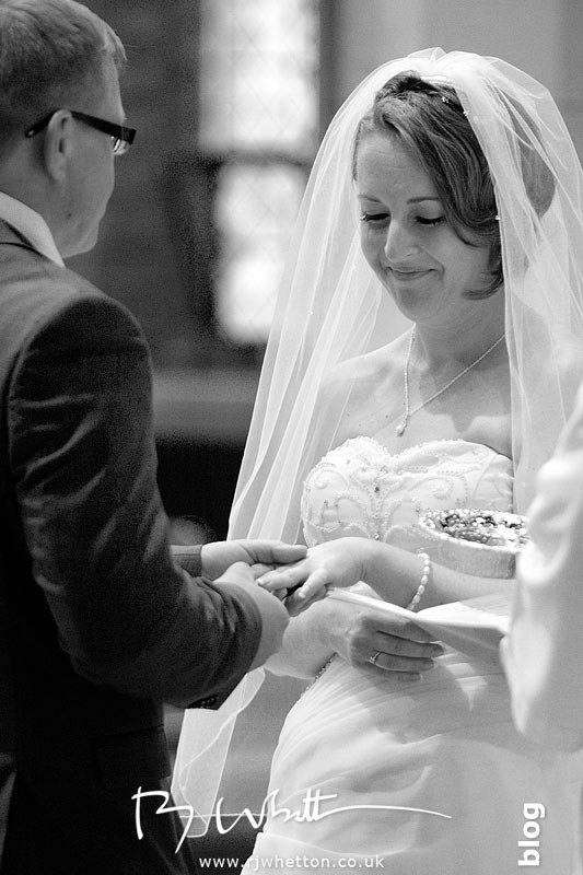 Exchange of rings - Professional Wedding Photography Dorset