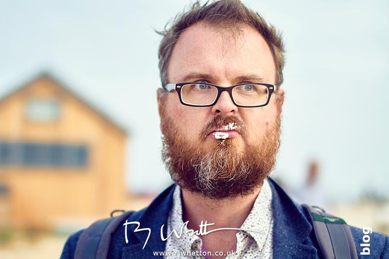 Dom has ice cream in his beard - Portrait Photography Dorset