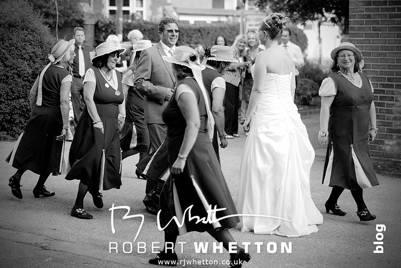 Morris Dancing with Leah and Neil - Dorset Wedding Photographer Robert Whetton