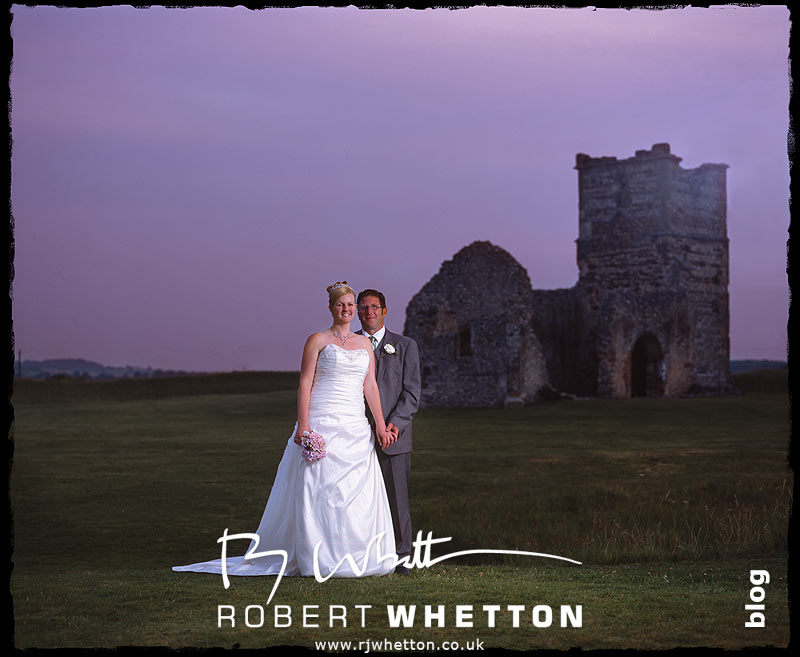 Knowlton Church Couple Shot - Dorset Wedding Photographer Robert Whetton