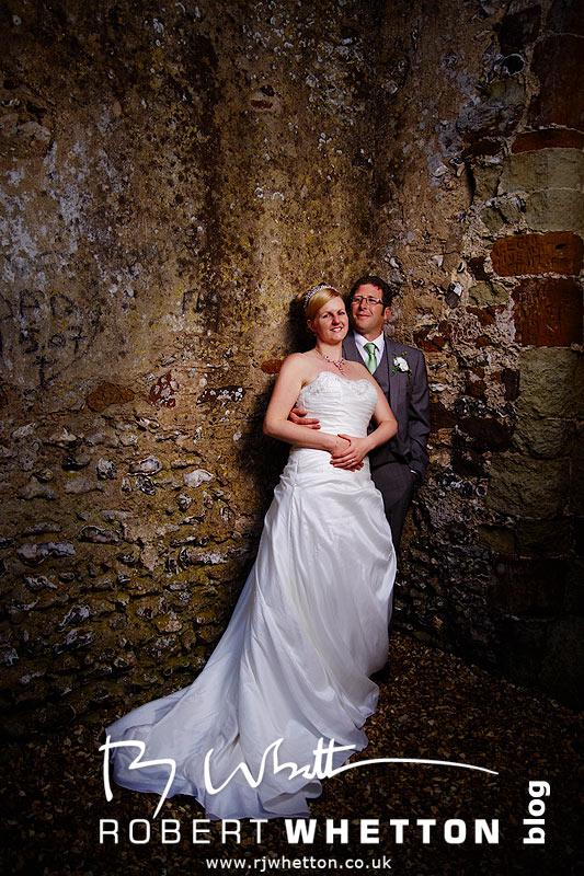 Knowlton Church Couple Shot - Dorset Wedding Photographer Robert Whetton