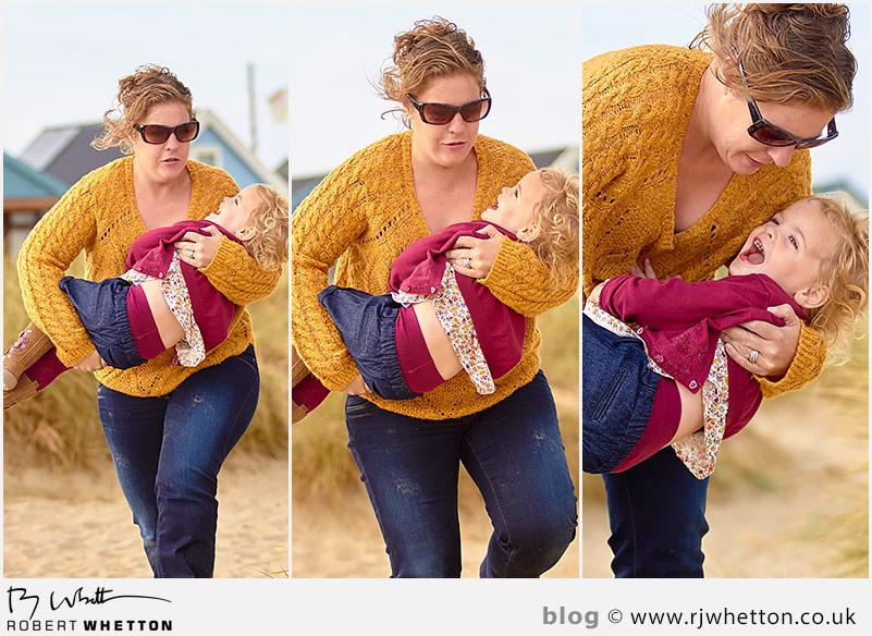 Mum and Harper playing - Portrait Photography Dorset