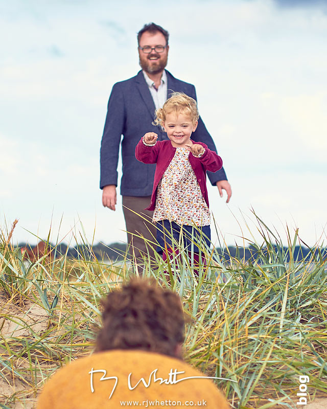 Scout and dad find mum - Portrait Photography Dorset