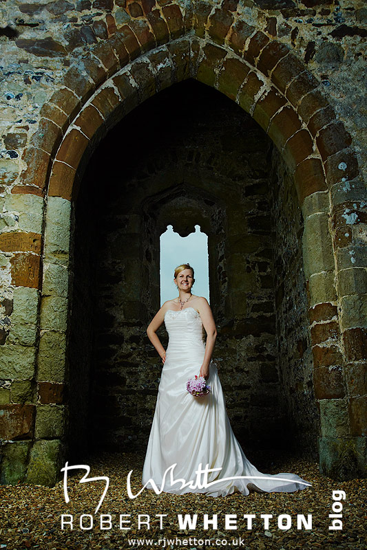 Leah at Knowlton Church - Dorset Wedding Photographer Robert Whetton