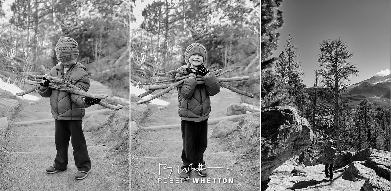 IMAGE: http://www.photographs.rjwhetton.co.uk/forums/Kid_with_Sticks_Gem_Lake_Trail.jpg